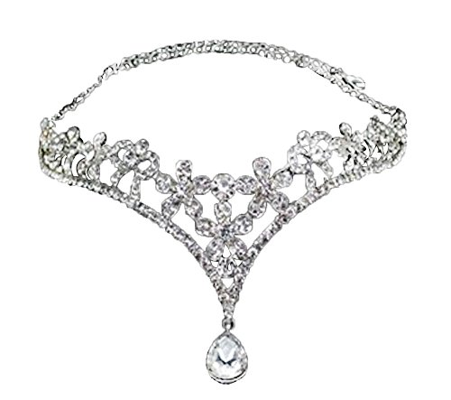 Bridal Headpieces Veils - Zhoyea Goods Wedding Bridal Headpiece Heart Rhinestone Crystal Crown Tiara Princess Women Girls Headband