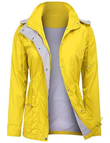 ZEGOLO Raincoats Waterproof Lightweight Rain Jacket Active Outdoor Hooded