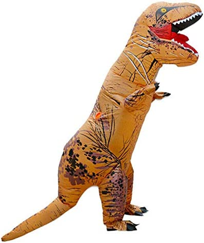 ARMIN Durable Nice Dinosaur Inflatable Costume Suit Outfit with Batteries Fans for Kids Cosplay Unique Gift Idea