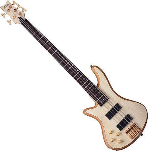 Stiletto Custom-5 string bass, Natural Finish, Left Handed (LH)