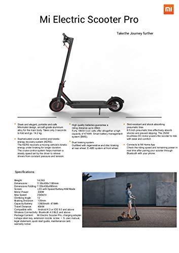 Xiaomi Mi Electric Scooter Pro Monopattino Elettrico Pieghevole, 45 Km di Autonomia