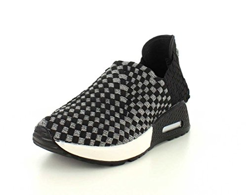 Bernie Mev Womens Best Gem Fashion Sneaker Black / Peltro