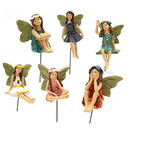 YIlanglang Miniature Fairy 6 Pack Fairy Garden Accessories Mini Garden Fairy Figurines Little Girls Poted Plants…
