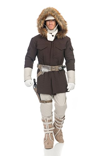 Charades Star Wars Hoth Han Solo Adult Costume, X-Large, Brown by Charades