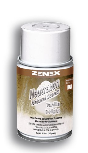 Zenex Neutrazen Vanilla Delight Scent Metered Odor Neutralizer - 12 Cans (Case)