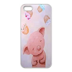 DIY Pink piggy Cover Case for iPhone 5,iPhone 5S, DIY Pink piggy Iphone 5 Phone Case, DIY Pink piggy iPhone 5S Cell Phone Case WANGJING JINDA