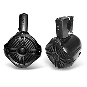 fully wireless marine speakers for a boat wakeboard tower
