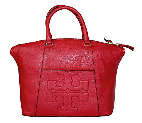 Liberty Red Medium Bag Bombe Handbag T Burch Slouchy Tory Satchel Leather Women's AwFaqWZ