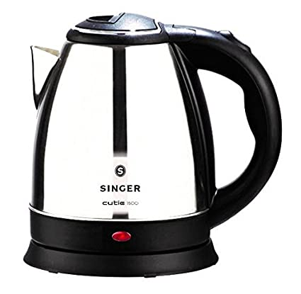 Singer Cutie DX Stainless Steel Electric Kettle, 1000 Watts (1.5L)