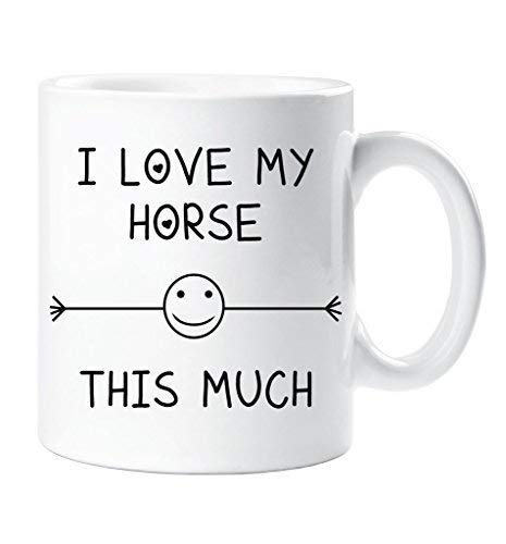 I Love My Horse This Much Mug Friend Birthday Gift Christmas Novelty Humour Funny Horse Lover 60 Second Makeover Limited