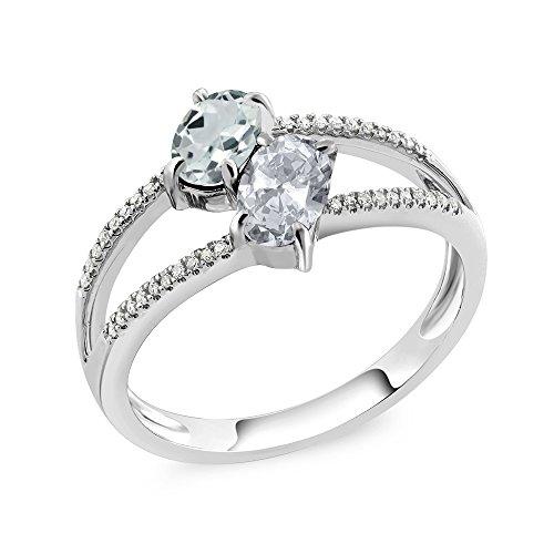 Gold Aquamarine Birthstone Ring - 5