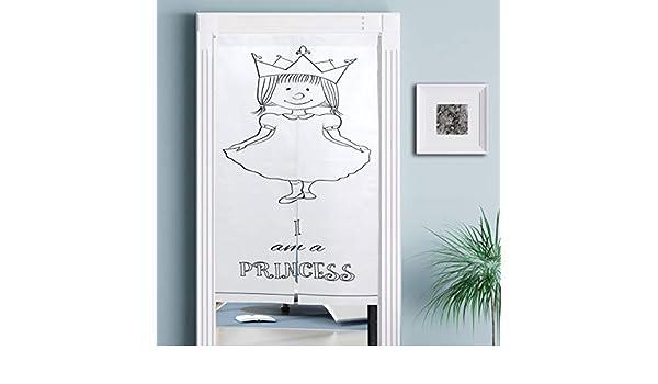 JISMUCI Cortinas,Vestido de Hadas de niña Linda de Dibujos Animados para niños con Corona Infantil Doodle,Decoración del hogar para Cocina,Sala de Estar: Amazon.es: Hogar