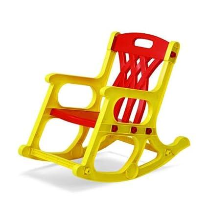 Nilkamal Jungle Kids Chair (Yellow And Red)
