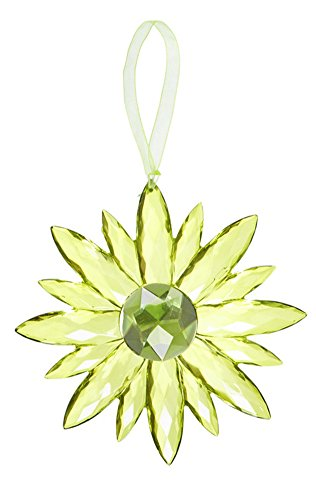 Flower Small Crystal Expressions 7 Inch Acrylic Hanging Jewel Ornament - Green