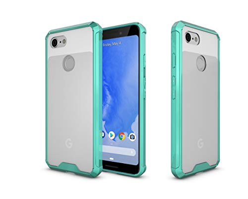 Price comparison product image Pixel 3 Case, Google Pixel 3 Clear Case, Designed for Google Pixel 3 Case Ultra Slim Crystal Clear Transparent Lightweight Scratch Resistant Hybrid Protective Phone Bumper Cover 2018 Release, Mint