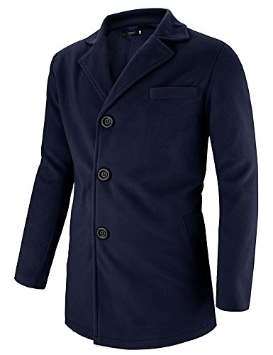 Hasuit Men's Single Breasted Notched Lapel Coat by Hasuit (Image #2)