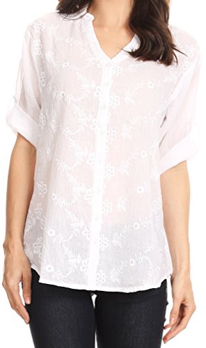 Floral Button Front Shirt - 6