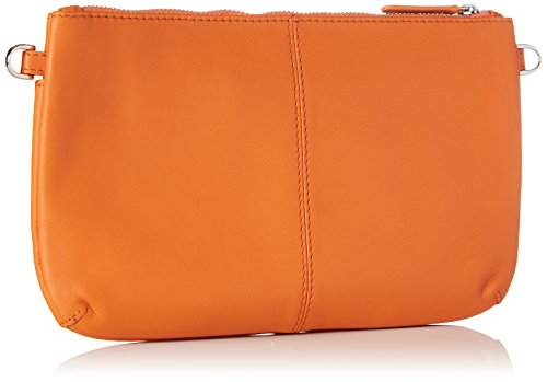 LE TANNEUR Damen Valentine Ttv3a00 Clutch, Orange, 2x14x23 centimeters