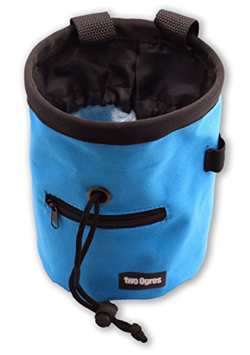 two Ogres Essential Z Climbing Chalk Bag with Belt and Zippered Pocket for Climbing, Gymnastics, Weight Lifting