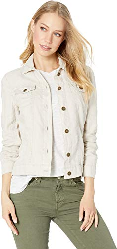 (Michael Stars Women's Woven Linen Jean Jacket Castle Medium)