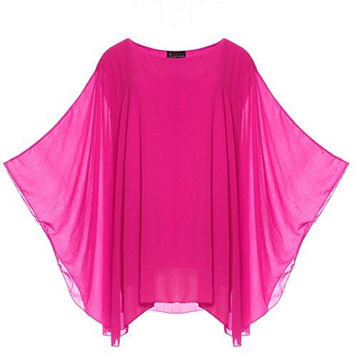 Candy Clothing - Camiseta de manga larga - para mujer rosa fucsia