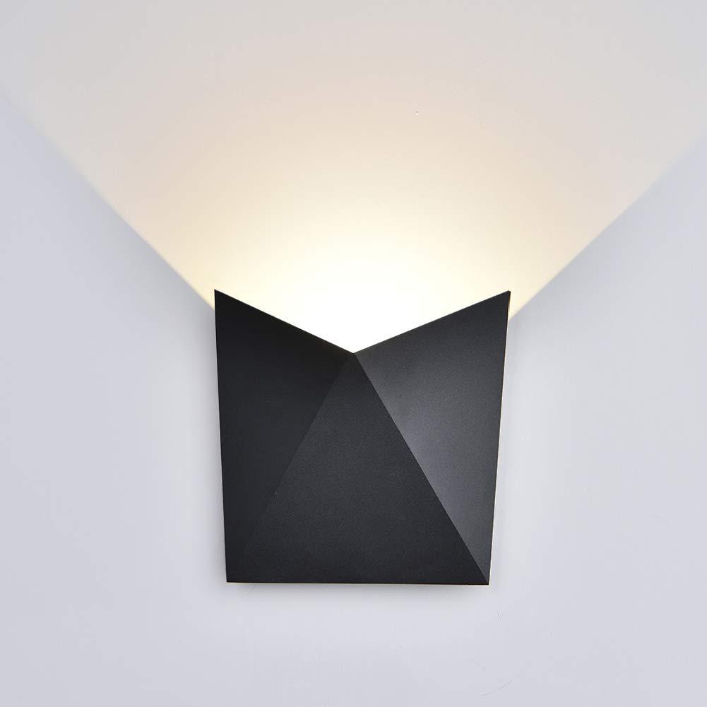 K-Bright 7W LED Wall lamp,IP 65 Outdoor wall light,Black,400K-4500K