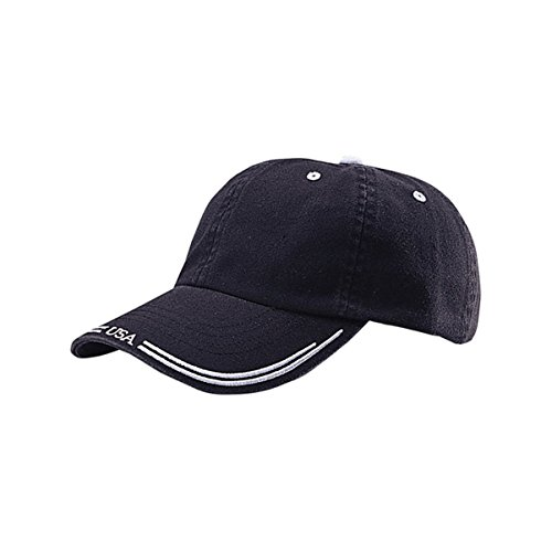 [Hats & Caps Shop Low Profile | (Uns) Washed Cotton Twill Cap - By TheTargetBuys | (BLK-WT)] (Cheap Indiana Jones Costumes)
