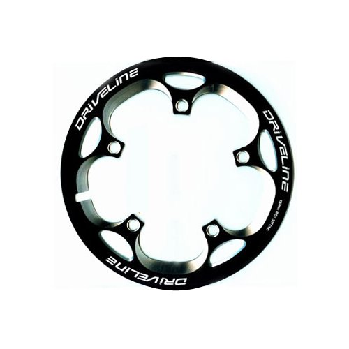 Driveline Crank Chain Guard Road Bike 52T BCD 130 Black