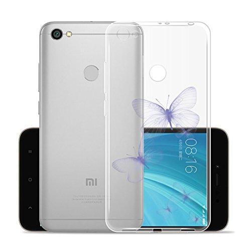 Funda para Xiaomi Redmi Y1 / Redmi Note 5A Prime , IJIA Transparente Hojas de Plátano Verde TPU Silicona Suave Cover Tapa Caso Parachoques Carcasa Cubierta para Xiaomi Redmi Y1 / Redmi Note 5A Prime ( WM106