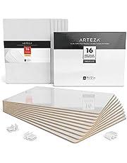 Pack de 16 tableaux blancs ARTEZA | Ardoise blanche effaçable 22,5 x 30 cm | Petite ardoise portable | Idéal pour étudiants et professeurs | Parfait pour le bureau et les événements