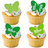 24 x MacMillan Mac Millan Cancer Support Coffee Morning Cake Sale STAND UP STANDUP Fairy Muffin Cup Cake Toppers Decoration Edible Rice Wafer Paper
