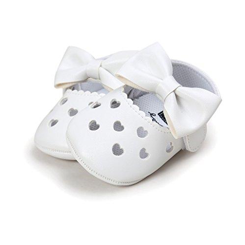 0 Cuero auxma Único 18 Antideslizante De Para Meses Zapatillas Zapatos Niño Bebé Suave Dd Bowknot Niña qX7HcH4wU