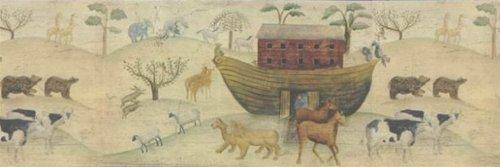 Carol Endres Spirit of Folk Noah's Ark Prepasted Wallpaper Border