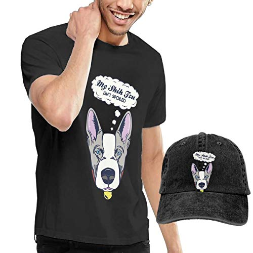 AACCTSHIRT Men's T-Shirt and Hats My Shih Tzu Isn't Spoiled Leisure Sports Style Black