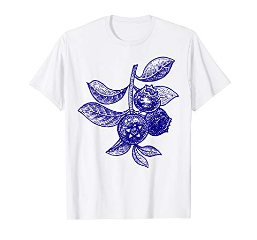 Blueberry Clothing - Blueberry Fruit Retro Vintage Art Graphic Gift - Blueberry T-Shirt