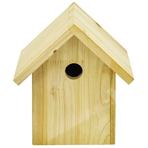 Niteangel Wild Bird Nesting Box, Wooden Bird House, 8.2×9.6×6.2 inch