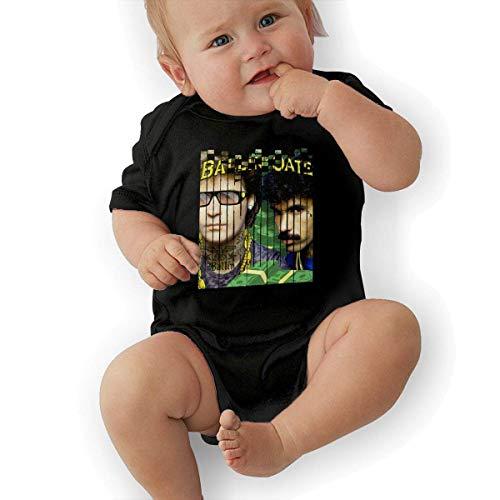 JRMM Toddler Hall & Oates Bodysuit Outfits Black ()