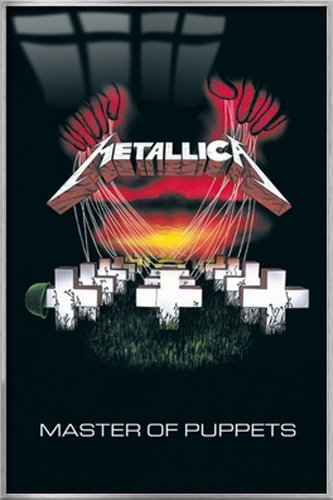 """Metallica - Framed Music Poster / Print (Master Of Puppets) (Size: 24"""" x 36"""")"""