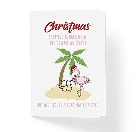 Amazon.com: Tarjeta de Navidad divertida con texto en inglés ...
