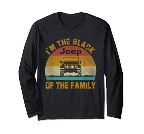 Vintage Jeeps I'm The Black Jeeps Of The Family Jeeps Lovers Long Sleeve T-Shirt