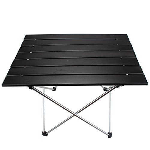 - MAGARROW Lightweight Aluminum Portable Folding Camping Outdoor Table Black, L (22