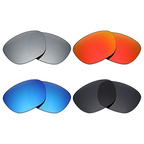 Changer Stealth Repuesto Titanio 4 fuego Para Lentes azul Game Rojo plata Mryok De Hielo Pares Polarizadas Oakley – Negro Sunglass wzAR7
