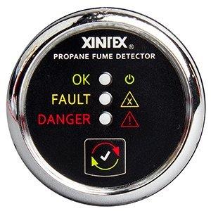 - Fireboy-Xintex Xintex Propane Fume Detector w/Plastic Sensor - No Solenoid Valve - Chrome Bezel Displa