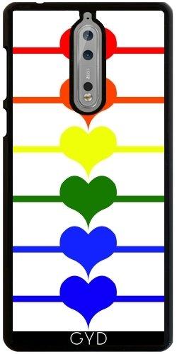 Funda para Nokia 8 - Corazones Del Arco Iris LGBT by loki1982