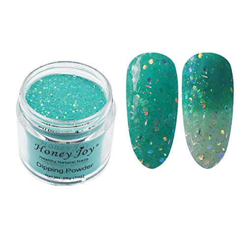 28g/Box Beach Light Green and White Temperature Color Change Dip Powder Nails Dipping Nails Long-lasting Nails No UV Light Needed, (W-No.14)