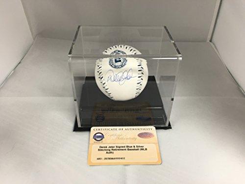 Derek Jeter Autographed Signed MLB Retirement Logo Silver...