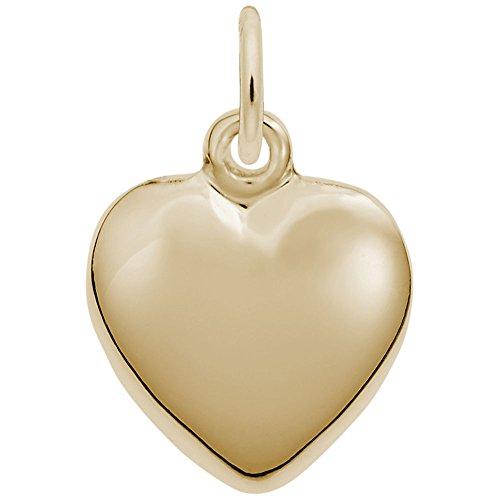 10k Gold Heart Charm - 2