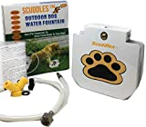Scuddles Dog Drinking Water Fountain Step On – Outdoor Auto Pet Water Dispenser System for Fresh Water – Suitable as Large or Small Dog Water Fountain Feeder Automatic – Easy to Use Sturdy Build