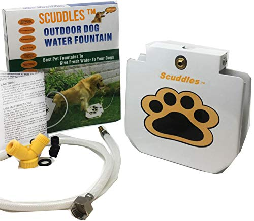 Scuddles Dog Drinking Water Fountain Step On – Outdoor Auto Pet Water Dispenser System for Fresh Water – Suitable as Large or Small Dog Water Fountain Feeder Automatic – Easy to Use Sturdy Build For Sale