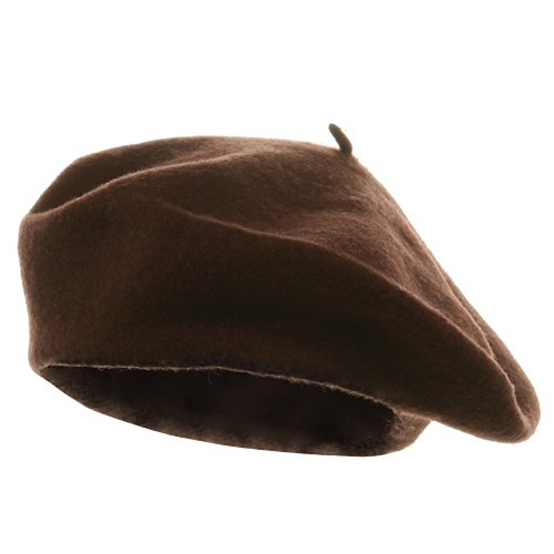 Wool Beret - Chocolate